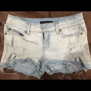 Aeropostale distressed jean shorts
